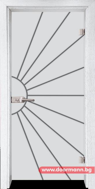 Стъклена врата модел Gravur 13-2 - Бреза