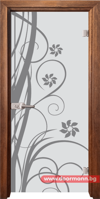 Стъклена врата модел Sand 14-7 - Златен дъб